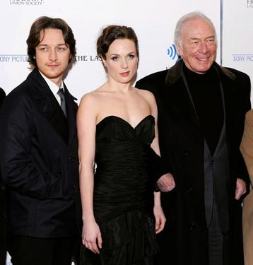James McAvoy, Kerry Condon and Christopher Plummer at the premiere of &quot;The Last Station.&quot;